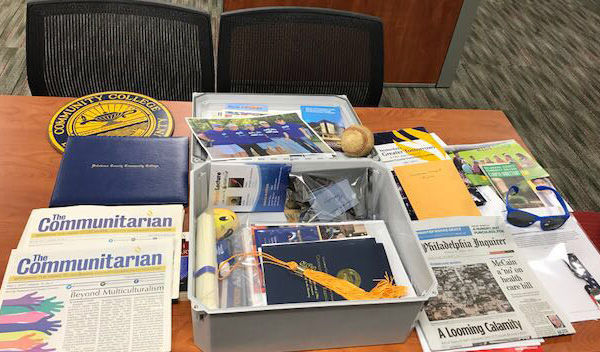 Contents of the new time capsule includes mementos from recent years. Photo courtesy of DCCC