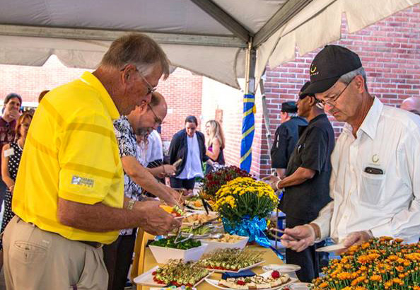 The staff of Canteen Services provides food for the barbecue, retiree luncheon, and the 50th Reception. Photo courtesy of DCCC
